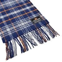 King of Orange lambswool tartan scarf