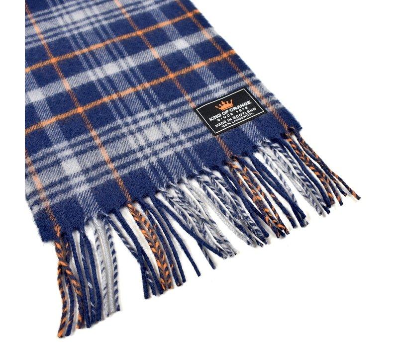 King of Orange lamswol tartan shawl