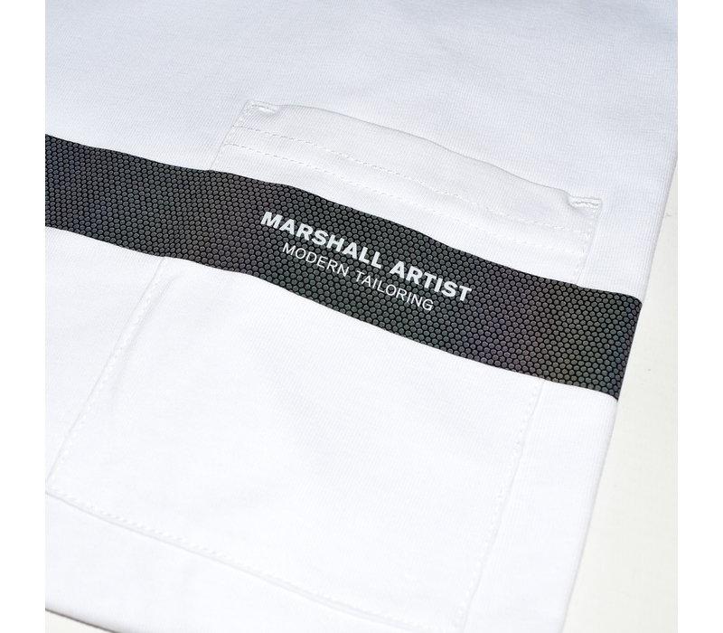 Marshall Artist Iridescent reflective ss t-shirt White