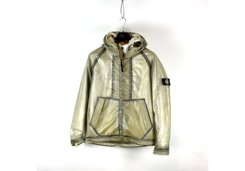 Stone Island Stone Island poly cover composite jacket with poly fur silver lining M