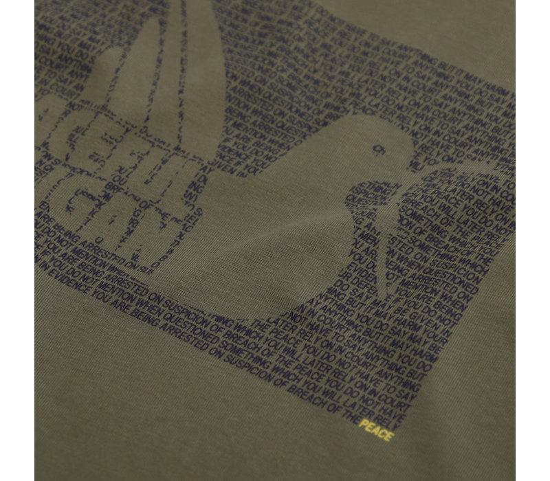 Peaceful Hooligan Justice t-shirt Olive
