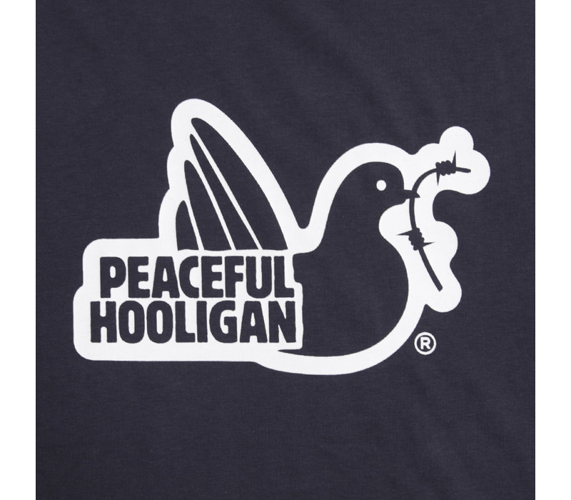 Peaceful Hooligan Outline t-shirt Navy