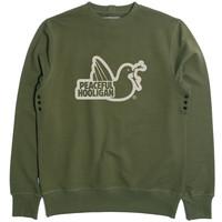 Peaceful Hooligan Outline sweatshirt Olive