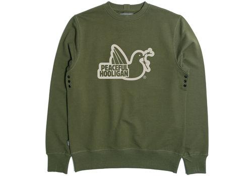 Peaceful Hooligan Peaceful Hooligan Outline sweatshirt Olive