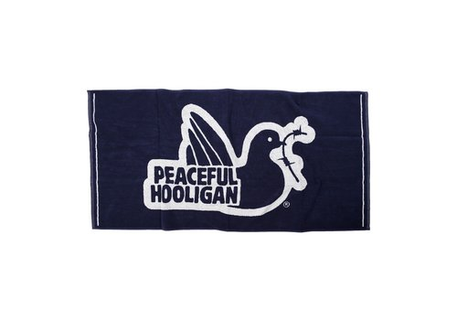 Peaceful Hooligan Peaceful Hooligan Dove logo beach towel Navy