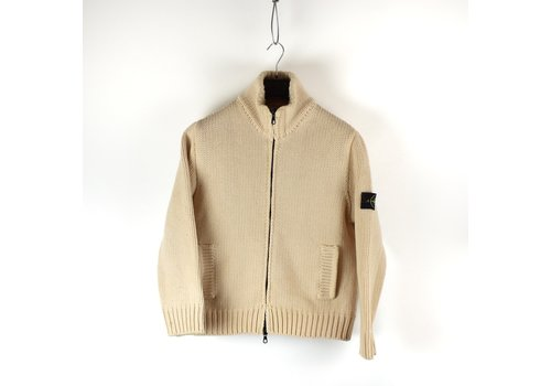Stone Island Stone Island ivory wool lined presidents knit L