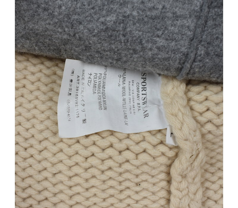 Stone Island ivory wool lined presidents knit L