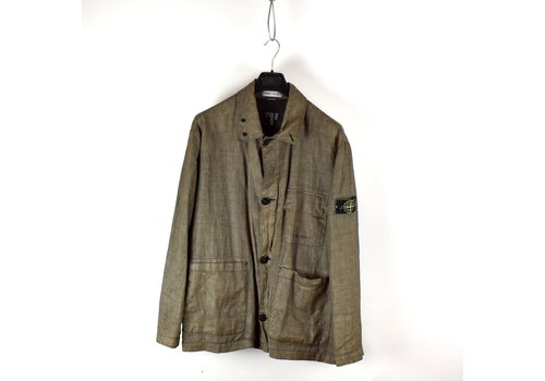 Stone Island Stone Island brown reverse colour process linoflax jacket XL