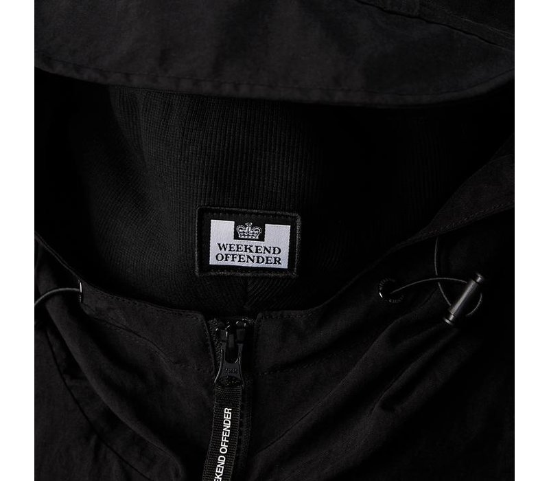 Weekend Offender Carbone hooded jacket Black