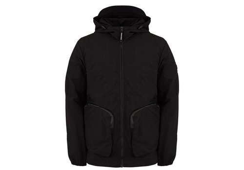 Weekend Offender Weekend Offender Carbone hooded jacket Black