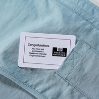 Weekend Offender Carbone hooded jacket Lake Blue