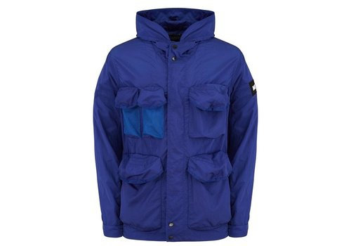 Weekend Offender Weekend Offender Devito hooded field jacket Electric Blue