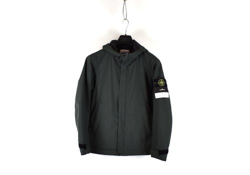 Stone Island Stone Island green gore-tex paclite with primaloft hooded jacket S