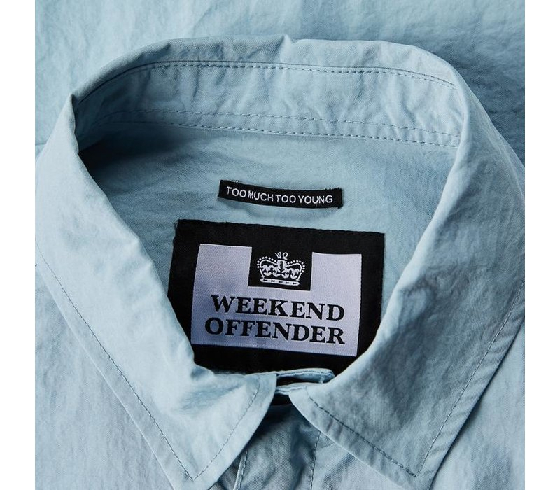 Weekend Offender Sorvino overshirt jacket Lake Blue
