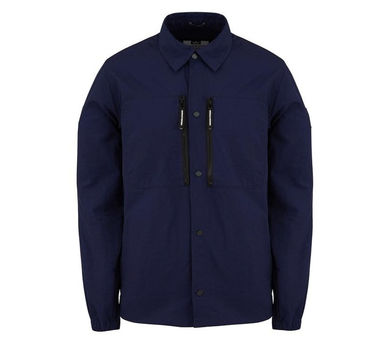 Weekend Offender Nicky Eyes overshirt jacket French Navy