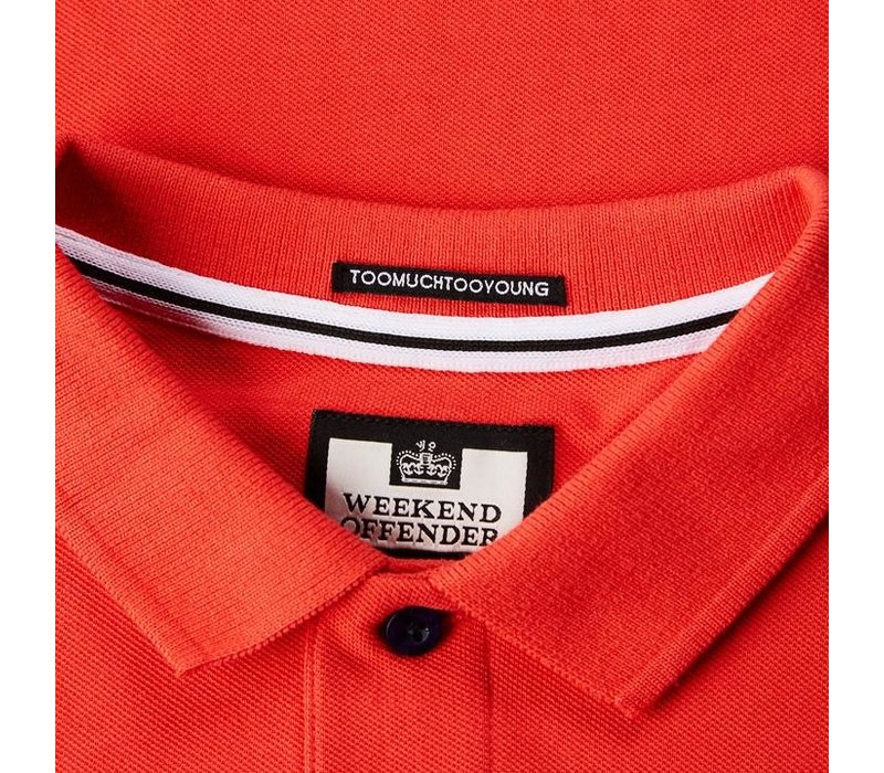 Weekend Offender Judge polo Watermelon Red