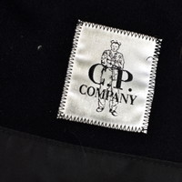 C.P. Company black dynafil goggle hooded field jacket 54