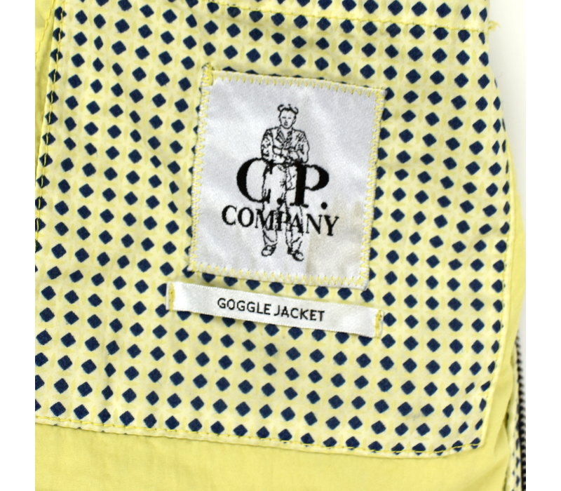 C.P. Company yellow graphic dotted goggle jacket 50