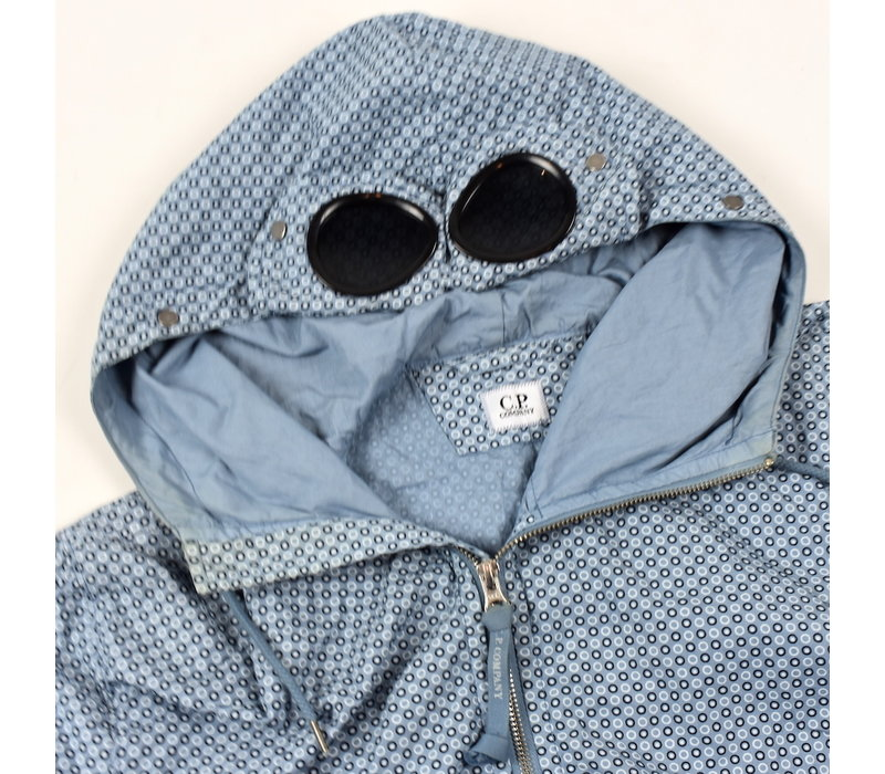 C.P. Company blue graphic dotted goggle jacket 52