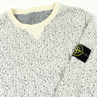Stone Island blue white reversible crew neck cotton knit S