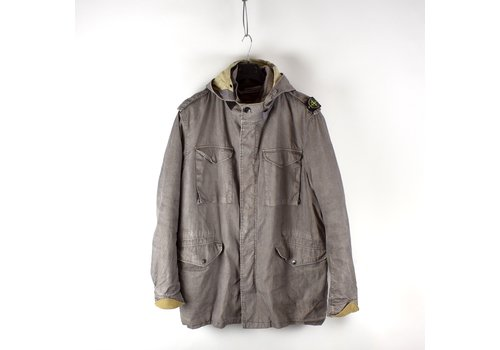 Stone Island Stone Island grey linoflax shoulder badge field jacket XXL