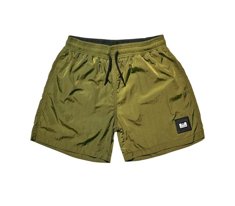 Weekend Offender Stacks swim shorts Cactus Green
