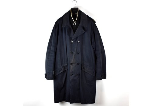 Stone Island Stone Island navy raso gommato shoulder badge trench coat XXL