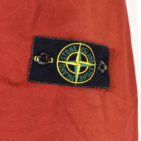 Stone Island red raso gommato lined jacket L