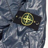 Stone Island blue liquid silk hooded jacket L