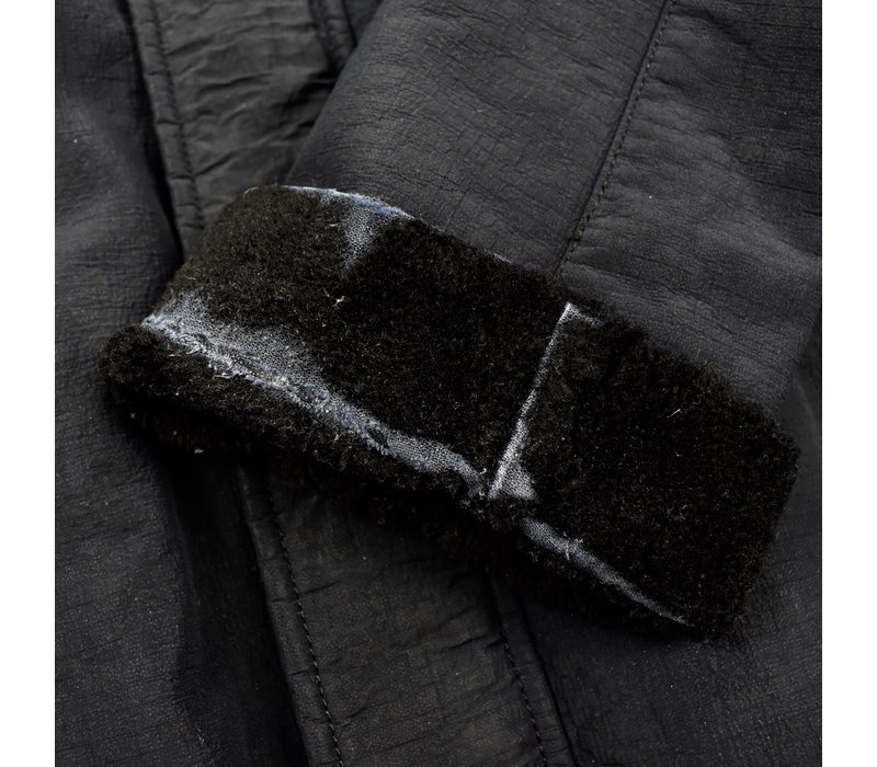 Stone Island X Nike navy jacquard grid on wool fur parka XL