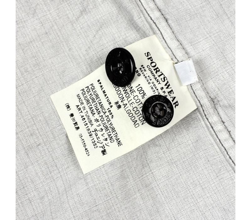 Stone Island grey spalmatura coated cotton overshirt jacket M