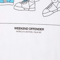 Weekend Offender Italia 90 Chairs t-shirt White