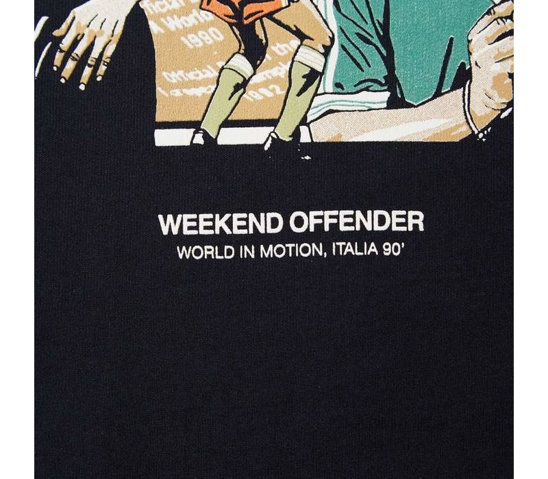 Weekend Offender Italia 90 Players t-shirt Navy