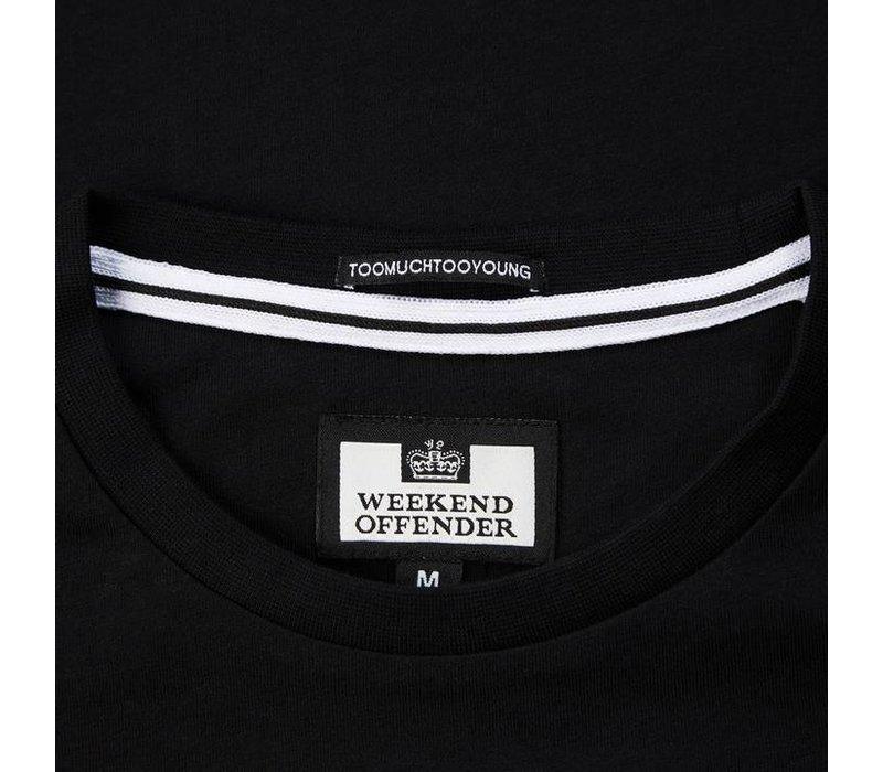 Weekend Offender Casuals Reflective t-shirt Black