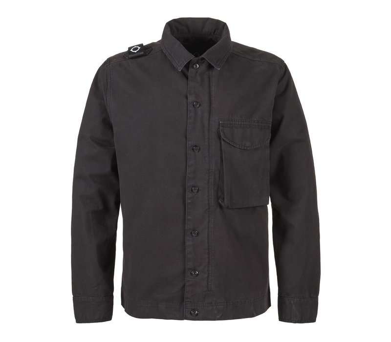 MA.STRUM gd overshirt Jet Black