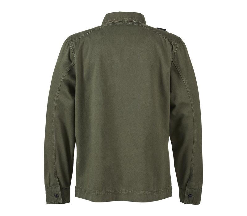 MA.STRUM gd overshirt Dark Khaki Green