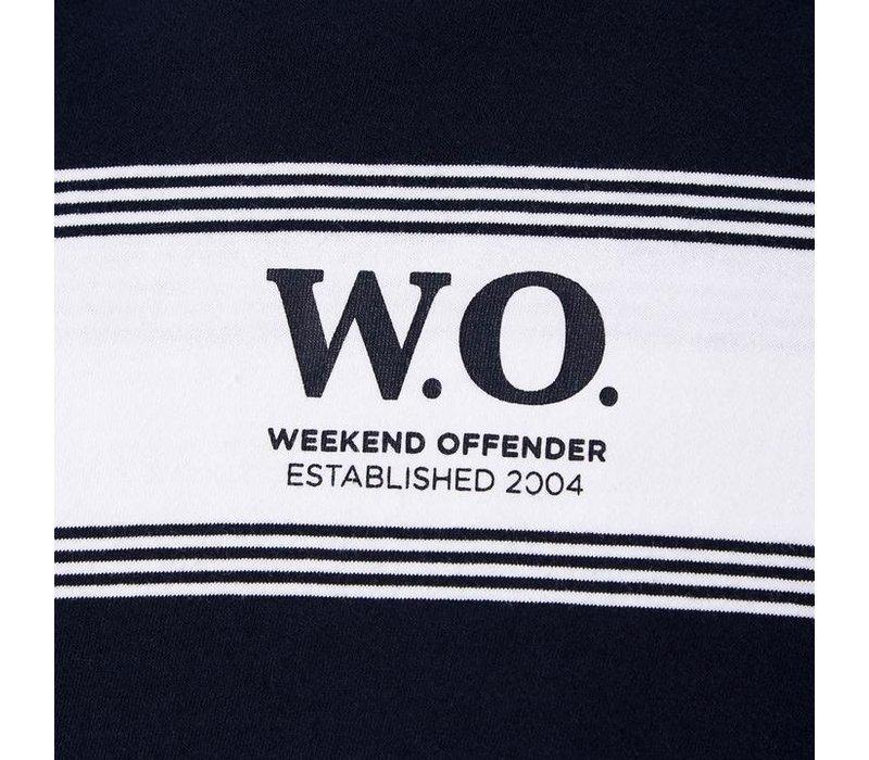 Weekend Offender Billy Batts t-shirt Navy/White