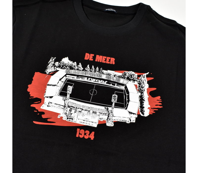 Three Stroke Productions Old Town Stadium Project De Meer Amsterdam t-shirt Black
