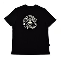 Three Stroke Productions style identity respect t-shirt Black