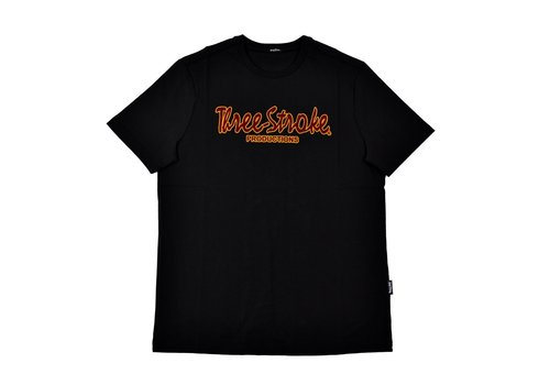 Three Stroke Productions Three Stroke Productions classic flock print t-shirt Black