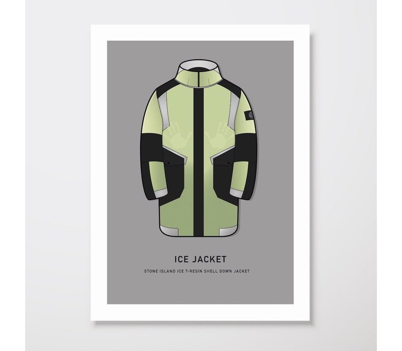 Creative Juice MCR A3 print Stone Island Ice-T Resin Shell yellow