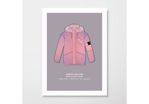Creative Juice MCR Creative Juice MCR A3 print Stone Island Marina 1988 Ice Jacket