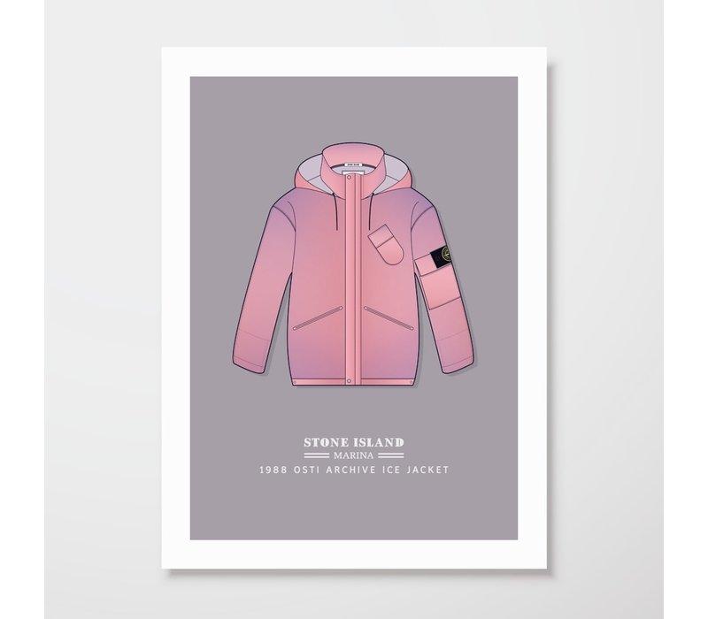 Creative Juice MCR A3 print Stone Island Marina 1988 Ice Jacket