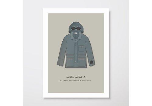 Creative Juice MCR Creative Juice MCR A3 print CP Company Mille Milia goggle jacket grey