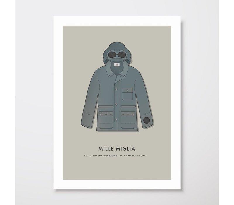 Creative Juice MCR A3 print CP Company Mille Milia goggle jacket grey