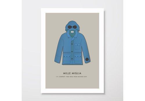 Creative Juice MCR Creative Juice MCR A3 print CP Company Mille Milia goggle jacket blue