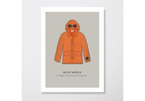 Creative Juice MCR Creative Juice MCR A3 print CP Company Mille Milia goggle jacket orange