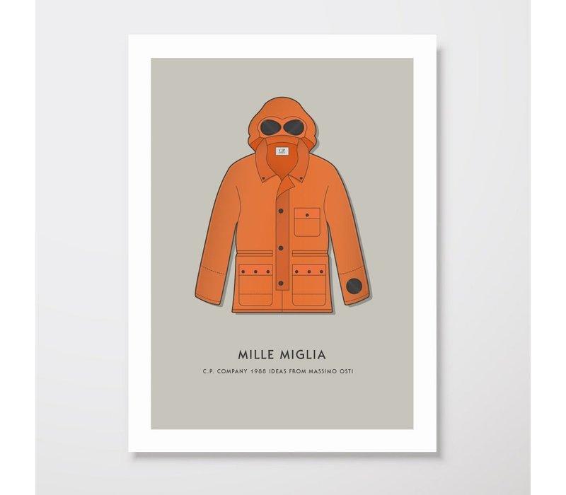 Creative Juice MCR A3 print CP Company Mille Milia goggle jacket orange