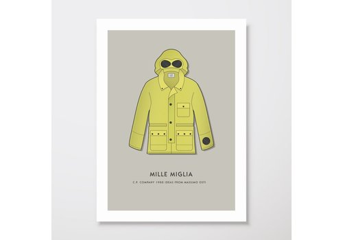 Creative Juice MCR Creative Juice MCR A3 print CP Company Mille Milia goggle jacket yellow