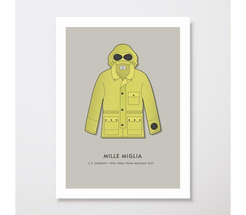 Creative Juice MCR A3 print CP Company Mille Milia goggle jacket yellow